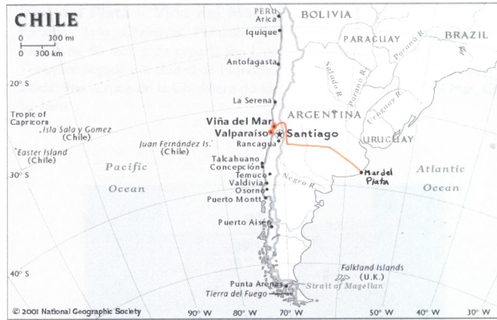 mapa mar del plata chile