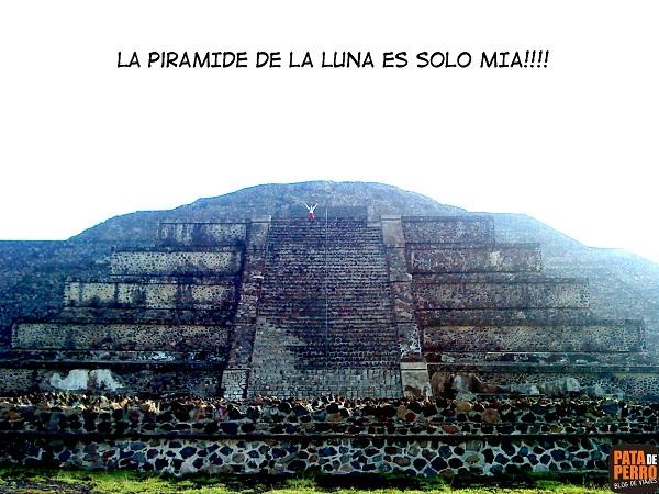 sola-en-la-piramide-de-la-luna pata de perro mexico teotihuacan