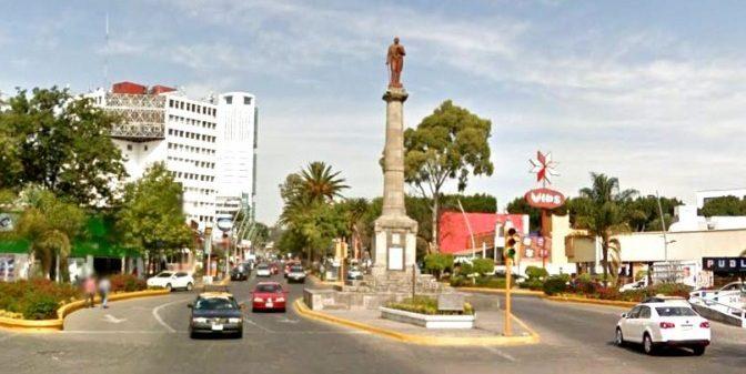 La estatua de Benito Juárez en Puebla