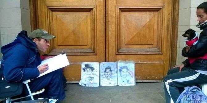 Caricatura de Lupita en Bariloche