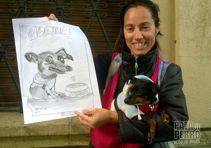 caricatura de lupita bariloche pata de perro blog de viajes08