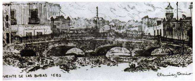 puente de bubas tinta china 1682 por f ramirez osorio