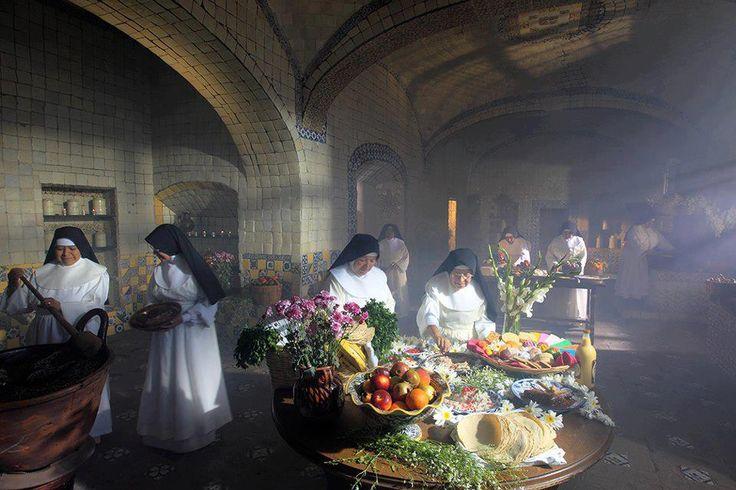 las rositas de puebla en la cocina del convento de santa rosa de lima puebla
