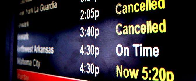 Reclamación por cancelación o retraso de vuelo