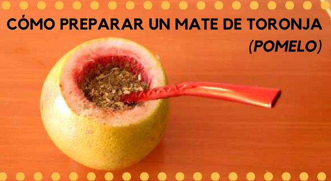Cómo preparar un mate de toronja (pomelo)