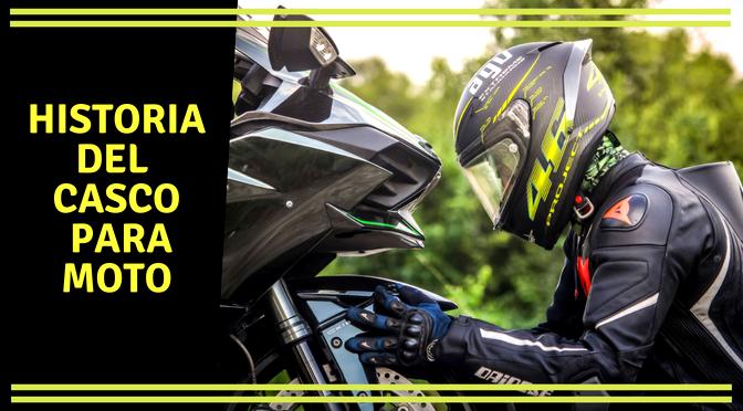 Historia del casco para moto