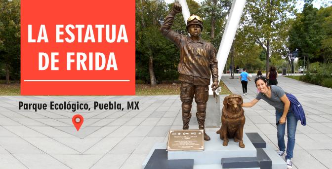 La estatua de Frida en Puebla