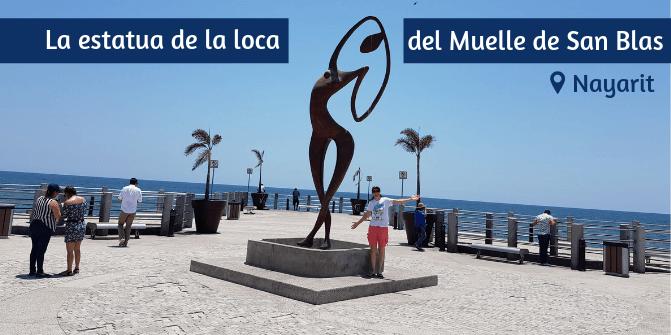La estatua de la loca del Muelle de San Blas