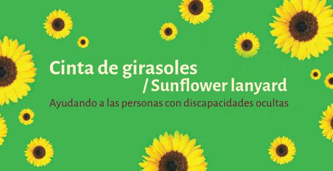 Cinta de girasoles / Sunflower lanyard