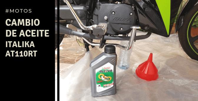 #Motos: Cambio de aceite – Italika AT110RT
