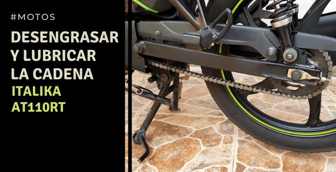 Motos: Desengrasar y lubricar la cadena