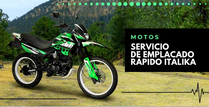 Motos: Servicio de emplacado rápido Italika