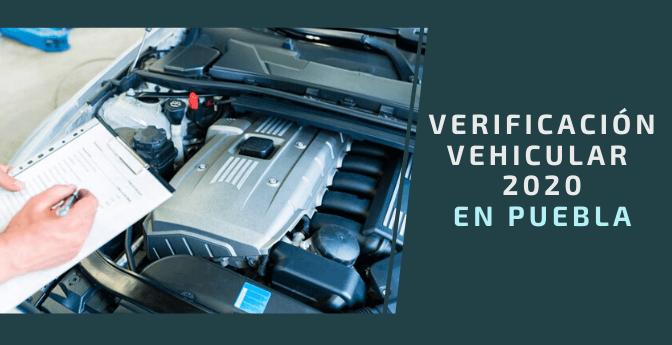 Verificación vehicular 2020 en Puebla