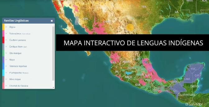Mapa interactivo de lenguas indígenas