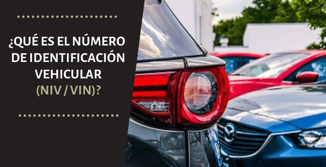 ¿Qué es el Número de Identificación Vehicular (NIV / VIN)?