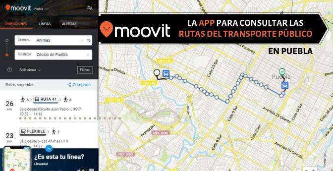 Moovit, la app para consultar las rutas del transporte público en Puebla