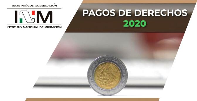 #INM México: Pagos de Derechos 2020