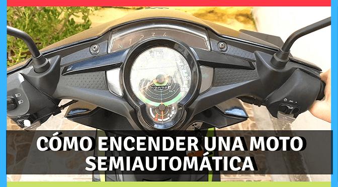 Cómo encender una moto semiautomática