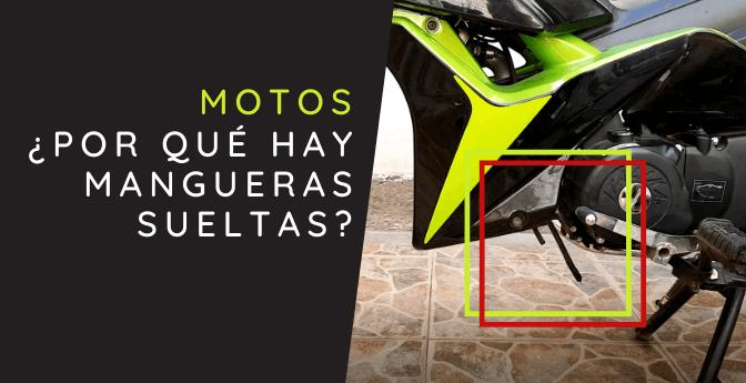 ¿Por qué hay mangueras sueltas en mi moto Italika AT110?