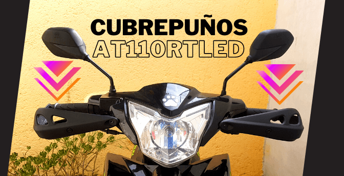 #Motos: Cubrepuños Italika AT110RT Led
