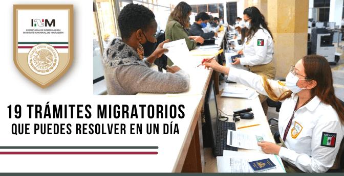 19 Trámites Migratorios que puedes resolver en un día